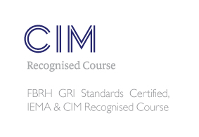 CIM recognised logo FBRH GRI standards certified logo