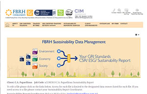 FBRH Sustainability Data Management Button