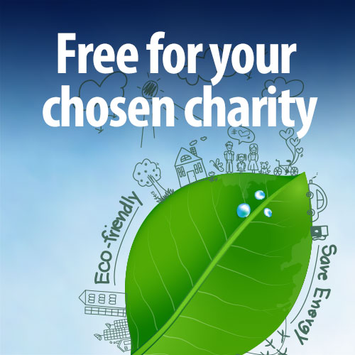 Free for your chosen charity
