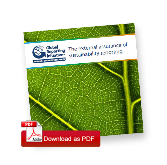 assurance on csr sustainability reporting Csr vol 3 and gri report: august 2013 csr vol 4 and gri report: august   and current practice with regard to seeking external assurance for the report,.